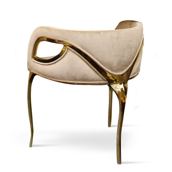 Mobilier : Chaise Chandra - Benny Benlolo Ensemblier Décorateur à Paris
